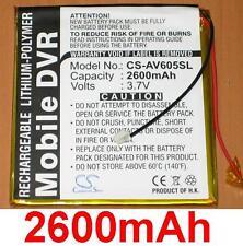 Batterie Pour Archos AV605, AV605 Wifi (20Go, 40Go, 60Go) **2600mAh**