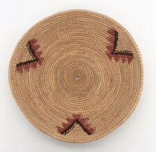 """Woven Sweet Grass Bowl Coil Basket Handmade Boho Wall Decor Tall Grass 6.5"""""""