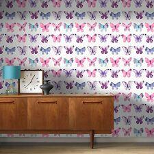 PAPILLONS ROSES PAPIER PEINT - Rasch 273618 - Neuf décoration chambre enfant