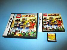 Lego Battles Nintendo DS Lite DSi XL 3DS w/Case & Manual