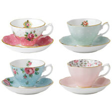 NEW Royal Albert Vintage Mix Teacup & Saucer Set 8pce