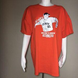 MLB Houston, Astros Graphic Tshirt Men's Zack Greinke #21 Welcome to Houston XL