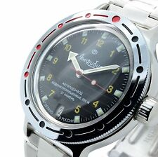 Vostok Amphibian New 420270/ 2416b Russian Military Divers Automatic Mens Watch