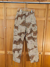 US Army 6 Color Desert 'Chocolate Chip' Camo BDU Pants, Size Small Long