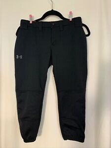 Women's Under Armour Black Knee Length Heat Gear Softball Pants Size XS