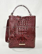 Brahmin Amelia Cranberry Melbourne Handbag Leather Sunburst R10 151 00274