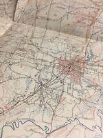 1856 TEXAS MAP TX Big Spring Boerne Bonham Borger Brazosport Brenham History XL