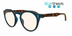 BLUESHIELDS Bildschirmbrille Blaulichtfilter Lesebrille in Panto Form RFE352