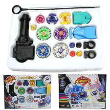 Beyblade Top Metal Master Rapidity Fight Rare Blade 4D Launcher Grip Kid Toy Set