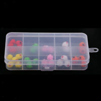 36pcs Fly Fishing Trout Bass Salmon Flies Bead Head Glo Egg Mixed 6 Colors