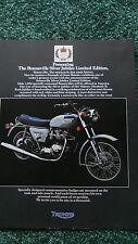 Triumph Motorcycle Brochure 1977 Silver Jubilee T140 New Original from Dealer