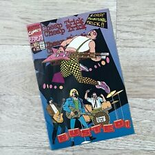 """1990 Marvel Comics Cheap Trick """"Busted"""" Promotional Comic Book"""