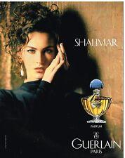 Publicité Advertising 1992 Parfum Shalimar par Guerlain