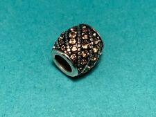 🌸 Brighton Silver Black Onyx Rope Topaz Crystal Bead (B8) NWOT 🌸
