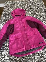 Lands' End Grow-A-Longs Waterproof Pink Winter Coat/Jacket M Medium - Free Ship