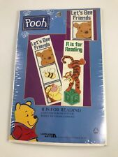 VINTAGE NEW POOH'S TIGGER COUNTED CROSS STITCH R IS FOR READING BOOKMARK KIT