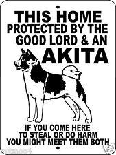 "Akita Dog Sign,9""x12"" Aluminum,Guard Dog Sign,Akita Dog Decal,Dog Sign,Glakita"