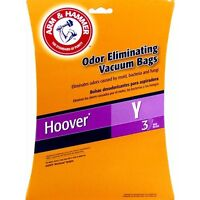 18 bags ARM & HAMMER VACUUM BAGS FOR HOOVER Y WINDTUNNEL Odor Eliminating bags