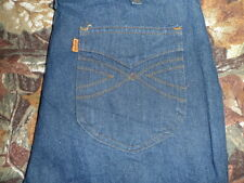 70's vtg RARE LEVIS JEANS 33x32 TALON 42 Dark Indigo Blue ORANGE TAB DISCO