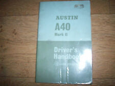 GENUINE  AUSTIN A40 MK11 DRIVERS HANDBOOK VERY NICE CONDITION