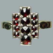 Size 6 Bohemian Rose Cut Garnet Sterling Silver Ring # SR-684 Jewelry Certificat