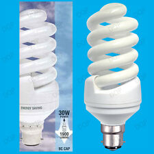 2x 30W (=150W) Daylight SAD Low Energy CFL 6400k White Light Bulbs BC B22 Lamps