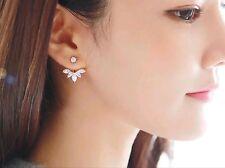 Beautiful Hanging Crystal Earrings Silver