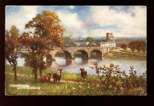 Scotland Roxburghshire KELSO Bridge artist A Young Tuck Oilette #7015 PPC 1906