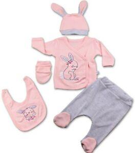 Neugeborenen Set 5 tlg., Mädchen Erstlingsset 0-3 Monate