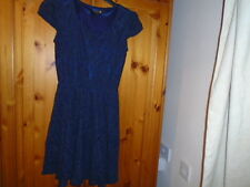 Dark blue lace skater style cap sleeve short dress, size 8