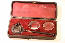 VINTAGE DR LIEBREICH OPHTHALMOSCOPE INCOMPLETE SET