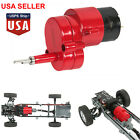 For WPL D12 RC Car Truck Part Full Metal Gearbox w/ 370 Brush Motor Upgrade #USA