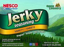 Beef Jerky Seasoning Spice Mix Blends Cure Dehydrator Sweet Hardwood Nesco 6 pk