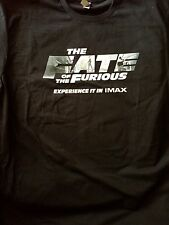 The Fate of the Furious Commemorative IMAX Movie T shirt Size Large Black Color