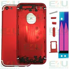 iPhone 7 Mini Style Red + White Metal Back Housing For Apple iPhone 5S