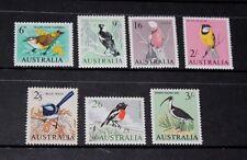 AUSTRALIA 1964 NATIVE BIRDS SET OF 7  VERY FINE M/N/H