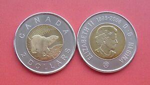Canada 2006 10th Anniversary of the Toonie 2 Dollars Bi-metallic Coin