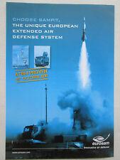 6/2011 PUB EUROSAM SAMP/T AIR DEFENSE SYSTEM MISSILE CAMION RENAULT TRUCK AD