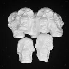 10x Flatback Styrofoam Foam Halloween Skull Ornament for Kids Painting Craft