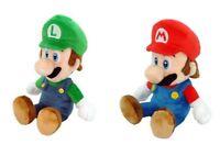 """AUTHENTIC Licensed Super Mario Bros 9"""" Mario & Luigi Stuffed Plush Toy Doll NWT"""
