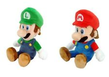 "NEW AUTHENTIC Licensed Super Mario Bros 9"" Mario & Luigi Stuffed Plush Toy Doll"