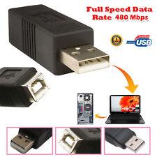 USB 2.0 A Macho a B Hembra Impresora Escaner Adaptador Convertidor Género PC Conector