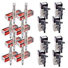 Set of 8 Motorcraft Spark Plugs SP515-SP546 + 8 Delphi Ignition Coils GN10182