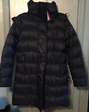Nwt Nike Women's Black Quilted Goose Down Puffer Parka Hooded Jacket Sz Small