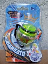 TOY COMETA TROMPO SPIN TOP PEONZA KING TURBO BALL BEARING STEEL POINT MOC MIP !!