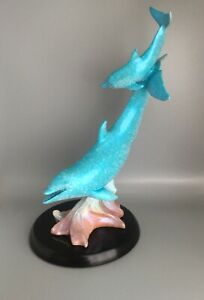 "Wyland Sculpture ""Follow Me"" 2008 Two Dolphins Lucite or Acrylic"