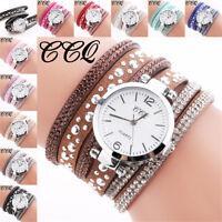 Womens Fashion Analog Quartz Rhinestone Bracelet Watch Ladies Dress Wrist Watch