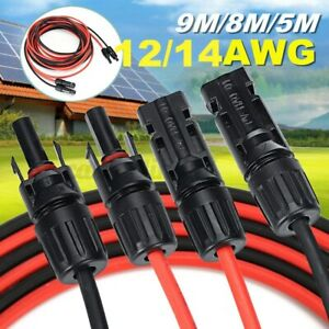 12AWG Solar Panel Extension Cord Cable Line Connector Cable 9M/8M/5M