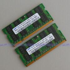 Samsung 4GB 2X2G DDR2 667 667MHZ PC2-5300 SODIMM laptop notebook memory RAM CL5