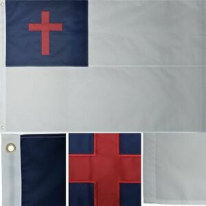 4x6 Embroidered Sewn Christian Christ Jesus 210D Nylon Flag 4'x6' GROMMETS B4L
